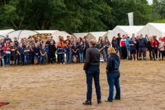 Die Eröffnung des 17. Kreisjugendfeuerwehrzeltlagers in Wilsum.
