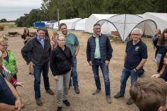 Besuch aus dem Landkreis Verden im Kreiszeltlager.